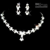 access rounding - 2016 new bride deserve to act the role of sea bride Accessories Necklace Earring set Rhinestone Wedding bridal pearl JEWELRY Wedding Access
