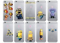 Wholesale Case Galaxy Note Minions - Despicable Me Minions ME3 Soft TPU Case For iphone 7 I7 7G Plus 6 6S 5 5S SE Galaxy Note7 Note  S7 Edge S6 Silicon Cartoon Lovely Skin Cover