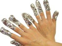 aluminum foil nail art - soak off gel Aluminum Foil Paper with cutton For UV Gel Wraps Remove gel nail art GEL LACK OFF box P37