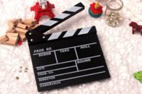 Wholesale New Arrival Director Video Scene Clapperboard TV Movie Clapper Board Film Slate Cut Prop amp