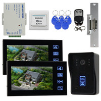 Wholesale Video Door Phone Strike Door Lock Intercom Doorbell Security Kit IR Camera Monitor KHz RFID Reader SY806MJID12