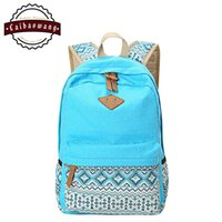 backpack for teens - CAIBAOWANG Lightweight Polka Dot Canvas Bookbags School Backpack Travel Bag Rucksack For Teen Girls