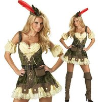 adult robin hood costume - High Quality Sexy Robin Hood Adult Women Costume Deluxe High Quality Adult Womens Magic Moment Costume Halloween Fancy Dress