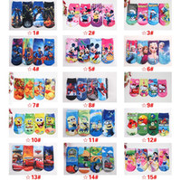 Wholesale DHL New D Cartoon Socks Children Baby Girls Boy Kids Cotton Printed Socks Frozen Elsa Anna Minion Minnie Mickey Super Hero Iron Cars