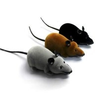 Wholesale 1PC RC Rat Mouse Wireless Remote Control Toys For Novelty Cat Dog Pets Kids Colors
