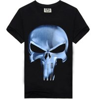 Wholesale Mens t Shirts Fashion Summer Men s Wear D Printed Skull t shirt Homme Brand Clothing Funny t Shirts Compression Shi