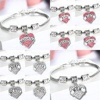 faith bracelet - 16 types Diamond love Heart bracelet crystal family member Mom Daughter Grandma Teacher Believe Faith Hope best friend for women