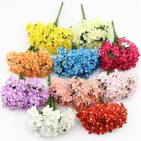 baby blossoms - 144pieces Mini Silk Baby Breath flower Bouquet Artificial Fabric Cherry Plum Blossom flowers Wreaths Scrapbook decoration