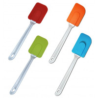 Wholesale 4 Pieces High Quality Colourful Silicone Baking Cream Butter Cake Batter Spatula Brush Tool Professional Kitchen Tools Have Stock In UK