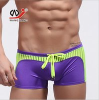 online shopping Man Short Swimming Trunk - Men's Swimwear Boxer Beach Mens Swimming Trunks Sexy Men Swim Bathing Swimsuit Splice Mesh Nylon Boxers Beachwear Swim Shorts