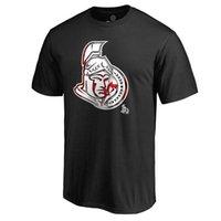 best banner - Ottawa Senators Mens T Shirt Black Banner Wave Ice Hockey Jersey Best Quality Size M XXXL Short Sleeve T Shirts