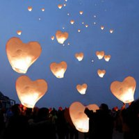 Wholesale White Red Oval Paper Chinese Lanterns Sky Flying Wishing Lamp Hot Kongming Lantern For Birthday Wedding Party Decoration