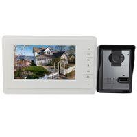 Wholesale Hot quot Color Video Door Phone Video Intercom Doorbell IR Night Vision Camera Video Intercom Monitor for Villa TVL F4374B