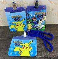 Wholesale Poke Lanyard ID Badge Card Key Holder Ring Case Pocket Neck Strap ID Badge Holder ID Card Holder Pass Case LJJK527