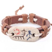 african tribe jewelry - Original Tribe Totem Leather BRACELET Unisex wax rope Bangle fashion wrist Bangles Awesome bracelet FAST RECEIVING FACTORY DIRECT JEWELRY