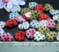 17mm 100pcs / lot impressão tecido coberto botão coração botão apartamento de volta de bolinhas para costura Scrapbooking sofá botão de artesanato