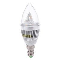 Wholesale E14 W LED Spotlight Chandelier Lamp degree LED Candle Bulb Light Spotlights High Power AC85 V Silver