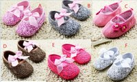 Wholesale China Baby Pvc Shoes - 2016 Bowknot princess shoes!11 12 13 cm toddler shoes,china soft baby shoes,dancing newborn single shoes for girls!9pairs 18pcs.C