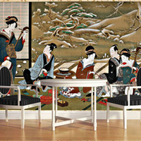 art reflection - Custom photo Silk D wallpaper for walls D for living room guest room TV background wall covering Japanese art mural wallpaper