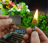 Wholesale Hiking Camping Tools Key Chain Ring Starter Flint Gas Oil Permanent Outdoor Gear Camping Lighter Stoves Cooking Easy use