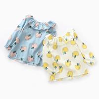 Cheap 2016 New Sweet Kids Girls Apple Print Tees Long Sleeve Fresh Fruit Tops 6PCS LOT Wholesale
