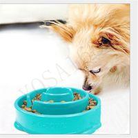 Wholesale Puppy Slowdown Food Feeder Anti choke Dish Pet Dog Cat Feeding Bowl Health And Prevent Obesity Pet Feeding Tools