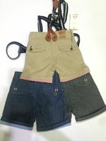 Wholesale Boys Short Trousers Three Colors Baby Kids Boy Cotton Summer Clothing Baby Boy MOS T Free With Infant Belt