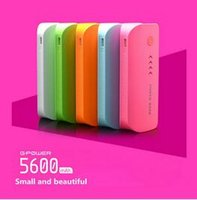 Cheap New portable mobile power bank 5600 5600mah external backup battery rechargeable fashion feather style frosted appearance multi color 50pcs