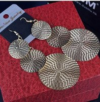 atmospheric layers - 2015 India Women Earrings Multi Layer Disc Exaggerated Atmospheric Vintage Earrings Ear Jewelry