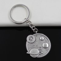 anchor systems - Fashion diameter mm Key Ring Metal Key Chain Keychain Jewelry Antique Silver Plated solar system galaxy mm Pendant