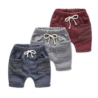 Wholesale Summer Kids Shorts Boys Knee Length Harem Pants Hot New Children s Clothing Boys Casual Loose Shorts Drawstring Trousers