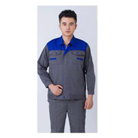 Wholesale Lstest Version Long Sleeve Work Uniform Clothes Overalls Welding Suit Superior Fabric Anti dust Five Size Blue Shoulder and Grey Body