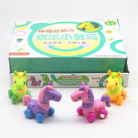 Wholesale Kids Wind up Toys Little Horse Cartoon Animal Kawaii Horses Toys Baby Toy Gift for Children Educational Toys