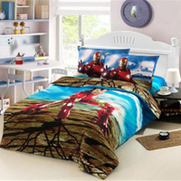 bedding for men comforter sets - Cartoon Bedding Sets Christmas Gift for Kids Iron Man Duvet Covers Set without Comforter Bedsheet Pillowcase pc Full Twin Sets