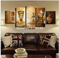 ancient egyptian life - Styles Abstract Ancient Egyptian Decorative Oil painting On Canvas Home Decor Wall picture For Living Room art set
