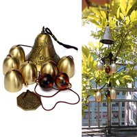 amazing clock - 6 Bells Copper Clock Yard Garden Outdoor Living Amazing Wind Chimes
