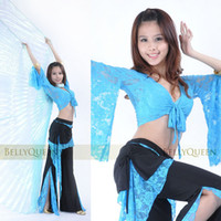 advance bellies - 2016 The new Lace pants lace blouse advanced belly dance practice clothes suit clothing