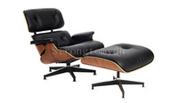 Wholesale Discount Eames lounge chair only genuine leather High quality cheap sofa arm chaise lounge chair with ottoman