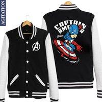 baseball sweatshirt designs - Fall Captain America Steven Rogers Print Original Design Unisex Lover Casual Baseball Jackets Sweatshirts Hoodies
