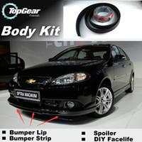 Wholesale Bumper Lip Lips For Chevrolet Optra Estate Nubira J200 Front Skirt Deflector Spoiler For Car Tuning The Stig Recommend Body Kit Strip
