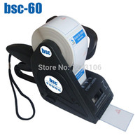 bar code machines - bsc Manual Labeling Machine carton box sticker labeler bar code sticker labeling machine printing labeling machine