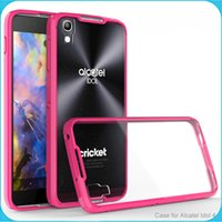alcatel phone cases - Alcatel Idol Case Clear Hybrid Bumper Shockproof Back Cover Phone Accessories For Alcatel Stellar idol