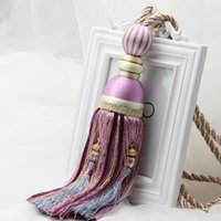 accessory curtains - New Tassel Curtain Tieback Cotton Rope House Room Window Decor Tieback belt ball high quality CP009