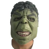 banner film - Head Rubber Green Giant Mask Halloween Cartoon Hulk Latex Masks Carnival Cosplay Superhero Bruce Banner Masquerade Party Supplies