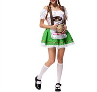 Wholesale 2016 Fashion Magic Women Adult Halloween Costumes Cosplay Maid Uniforms Beer Costume Carnival Oktoberfest Costume