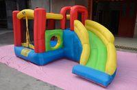 amusement equipment - Children s inflatable castle trampoline jump slide bed large amusement park amusement equipment naughty fort
