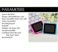 ebooks - 6th Generation GB MP4 MP3 Player Slim inch LCD Video Radio FM Video Player With FM Recording eBooks