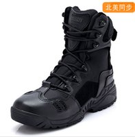 army tactical boots - Esdy Brand Designer Men Military Tactical Boots For Men s Outdoor Hunting Desert Black Motorcycle Army Combat Leather Shoes