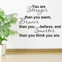 believe decorations - DIY You Are Stronger Than You Believe Inspiration PVC Letter Word Removable Vinyl Art Wall Sticker Wallpaper Decal Decoration dandys