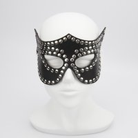 adult halloween costumes - Studded Queen Mask Dominatrix Costume Sex Mask for Halloween Party eye mask Adult Games bdsm toys Couple Sex Toys
